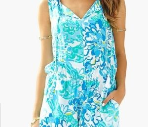 Lilly Pulitzer Tybee small excellent romper blue